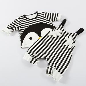 婴儿衣服秋装女宝宝背带裤套装春秋3婴幼儿2小童0男童1岁裤子洋气
