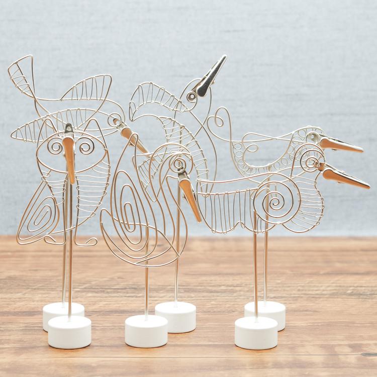 Blue show bird Notepad photo clip Swan owl parrot swallow hummingbird duck creative handicrafts