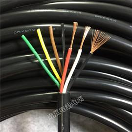 进口电缆日本苍茂 F 22 KURAMO 6芯0.5平方电缆线 超软耐油 20AWG图片