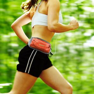 北京森林户外透气跑步腰包自带耳机孔小腰包纯色尼龙面料男式女式
