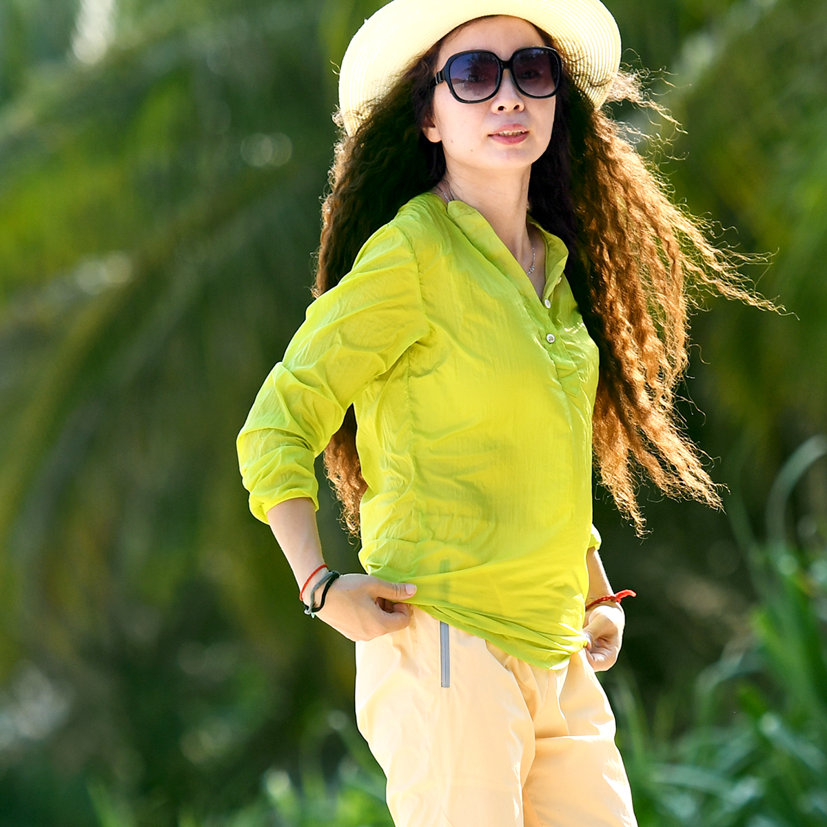 Пекин лес на открытом воздухе лето хеджирование кожа одежда защита от ультрафиолетовых лучей легкий дышащий быстросохнущие тонкий женский
