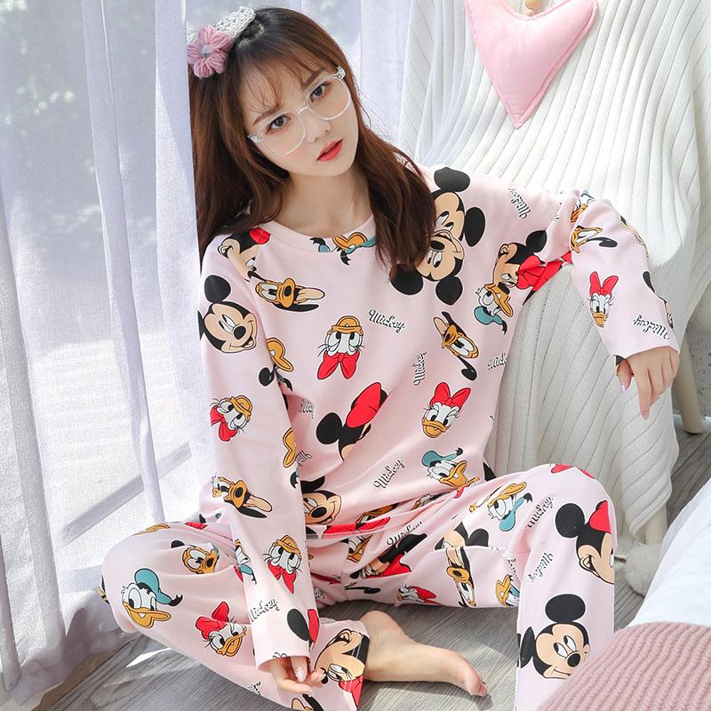 米奇布袋春秋季韩版米妮宽松睡衣