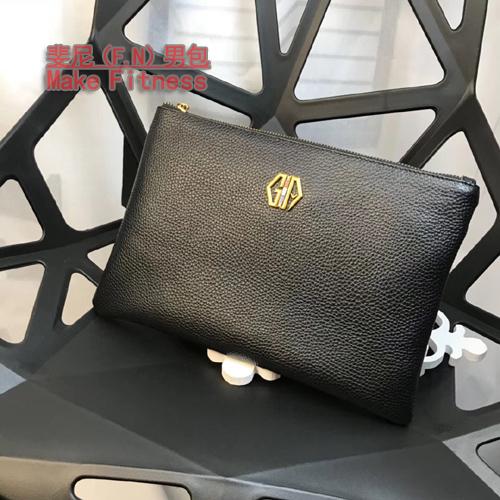 New mens business leather handbag leather wallet top layer leather mens bag large capacity office envelope bag