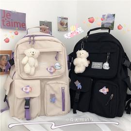 初中生书包女韩版大容量高中学生百搭森系少女背包双肩包2020新款