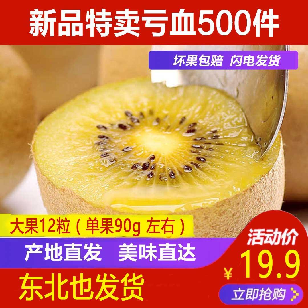 【现货90g】12/24个四川蒲江黄心猕猴桃奇异果非红心绿心翠香徐香