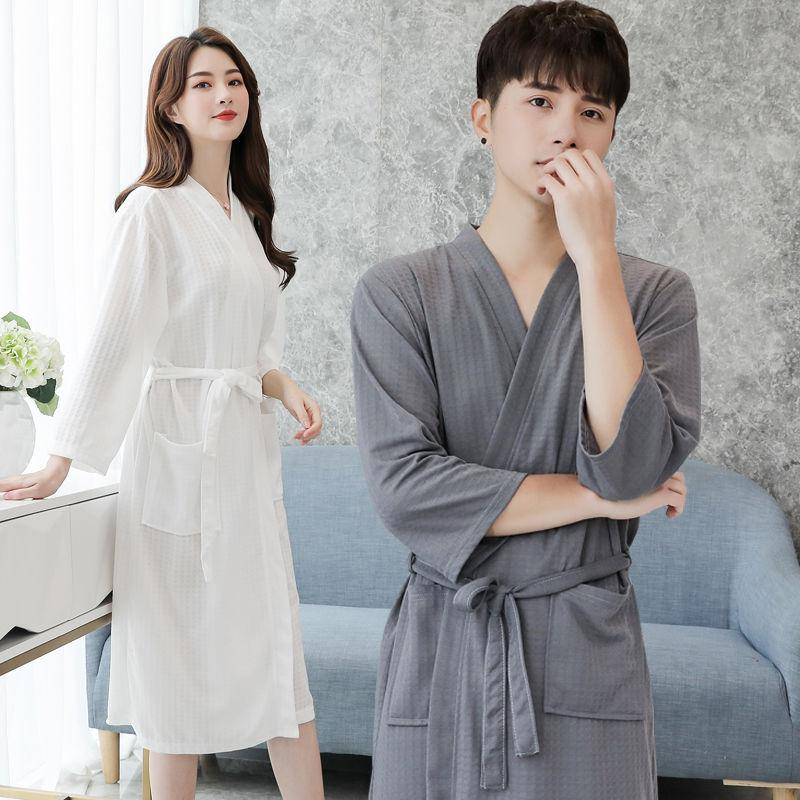 Nightgown mens summer plus size loose sexy bathrobe womens absorbent quick drying bathrobe beauty salon bath towel household clothing spring and summer