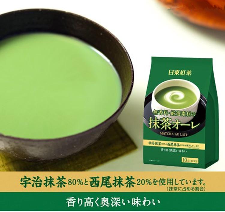 日本进口日东红茶日东抹茶奶茶宇治西尾抹茶欧蕾10枚入