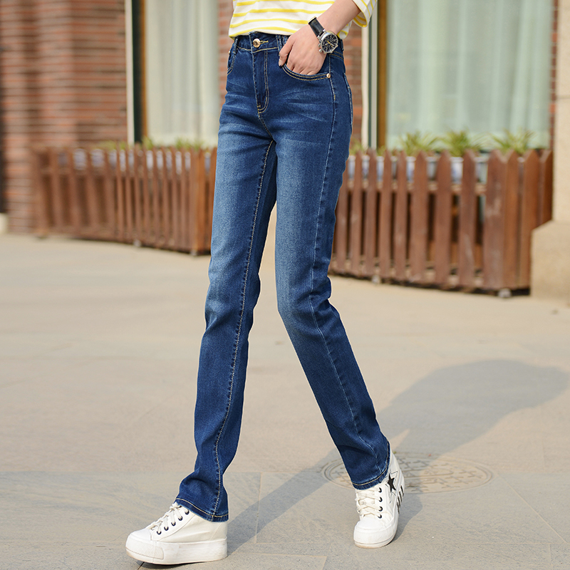 Summer 2020 new large Korean version long loose casual stretch slim straight jeans womens long pants fashion