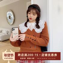 肉卷家大码针织毛衣春款女装2021年新款胖mm减龄洋气韩版显瘦外套