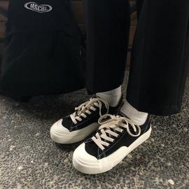 山本风小众帆布鞋女ulzzang低帮百搭学生韩版板鞋子ins潮复古港味