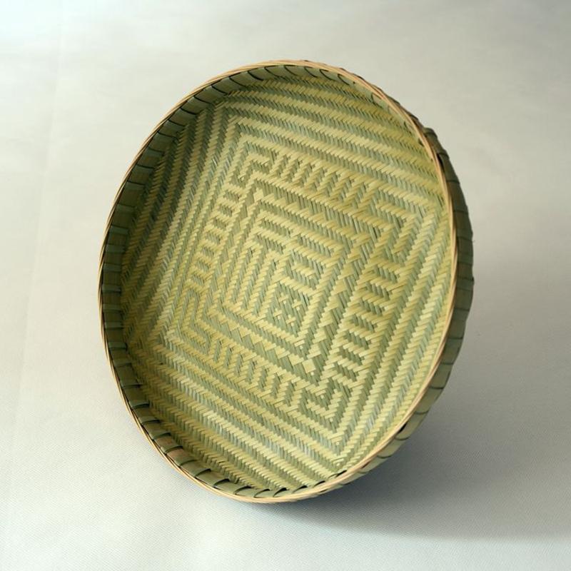 推荐竹编水果盘子放饼家用晾晒干货簸箕创意竹制工艺品收纳盘无漆