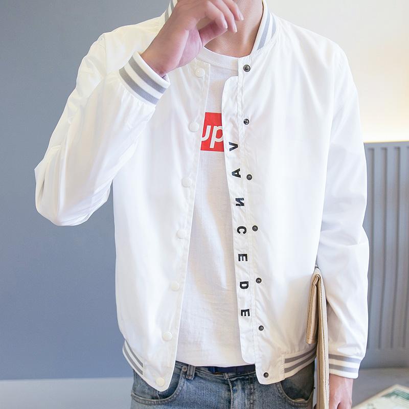 秋季男士超薄夏装韩版款立领夹克限6000张券