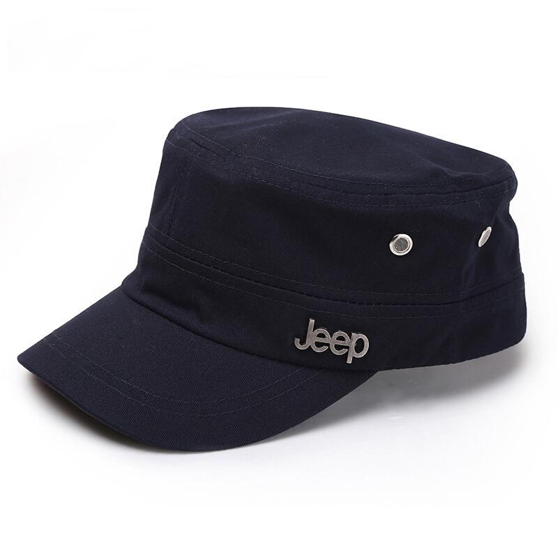 ジープ鳥アヒルの舌帽子ファッションの若者が流行しています。男女同タイプの夏の平頂鴨舌帽子綿水洗い男子帽子です。