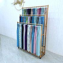 窗簾吊卡展示架家紡布藝落地式陳列架子移動布料樣品色卡展會架子