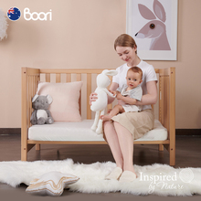 Boori Harun baby bed multifunctional bed imported solid wood bed children's bed with roller BB bed splicing king bed