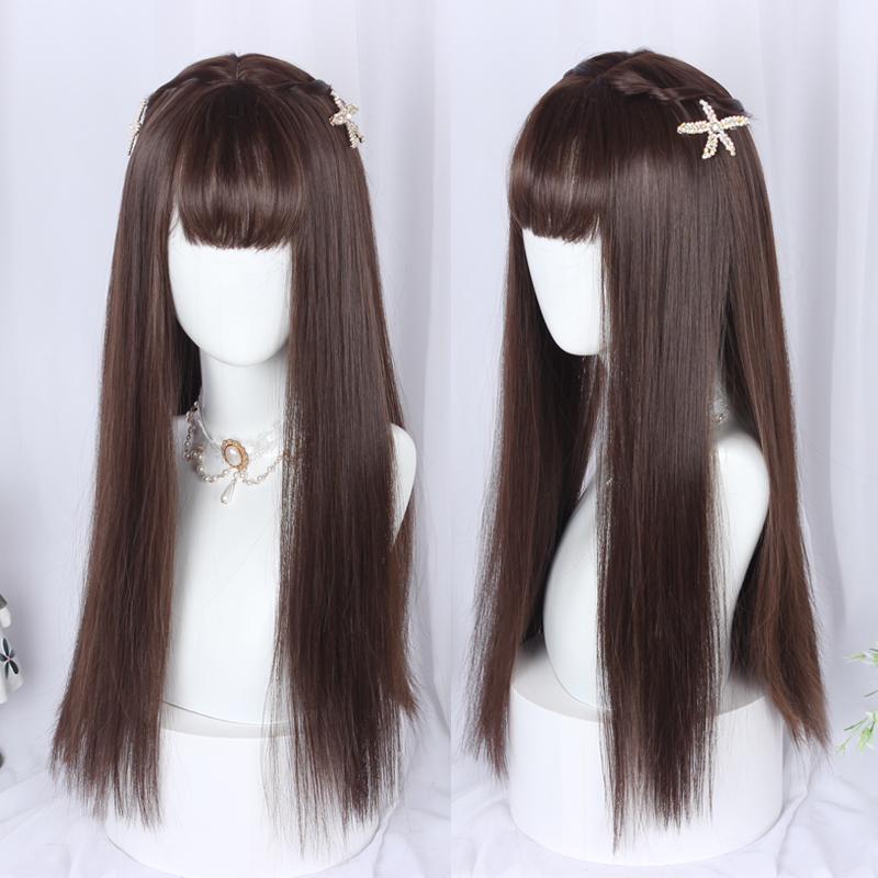 洛丽塔lolita.假发少女冷棕色长发日常时尚网红原宿凹造型日系风