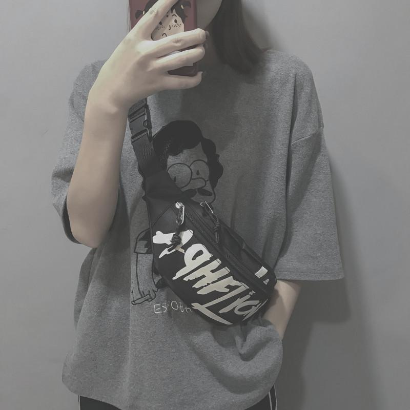 网红小包包女2019新款ins潮酷韩版学生百搭斜挎时尚蹦迪腰包胸包