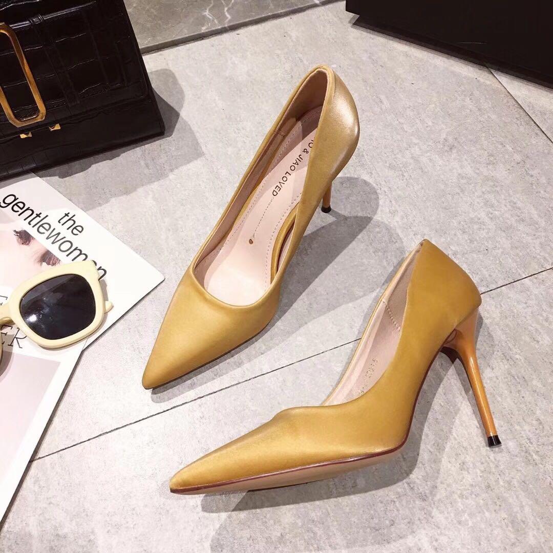 新款尖头超高跟鞋细跟单鞋女显瘦欧美ins网红夜店女鞋潮ifashion