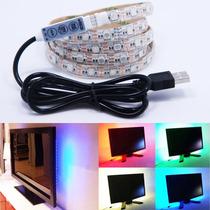 通用USB5VLED电视电脑背景装饰灯带5050RGB七彩充电宝灯带
