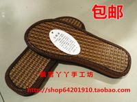 Tengxin Летние Ротанг Бамбуковые плоские каблуки мужской Зубчатые подошвы Скользящие и износостойкие ручная работа вязанные прохлада тапки конец