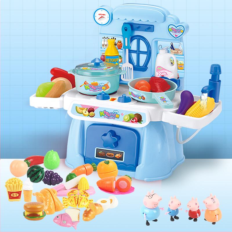 儿童小猪佩琪佩奇宝宝过家家仿真厨房做饭烧饭厨具套装玩具女孩手慢无