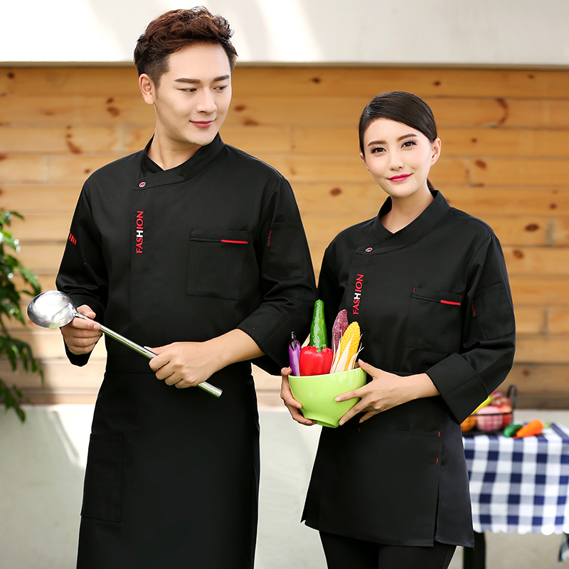 Catering chefs work clothes autumn winter long sleeve bakery uniform cake clothes mounting masters work clothes pastry masters clothes