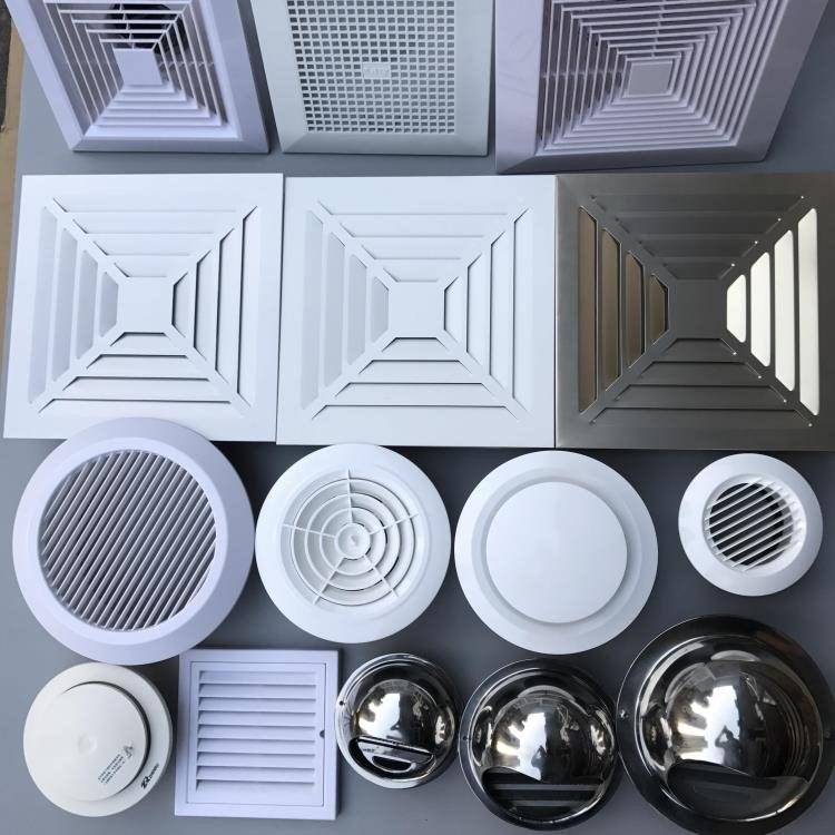 抽油烟机排出罩装饰罩子扇室外罩排风罩塑料厨房烟管风口圆形