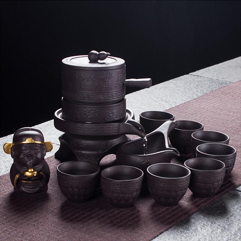杰茗博�腥俗仙叭�半自��r�磉\�D磨�P��意功夫茶具套�b陶瓷泡茶器