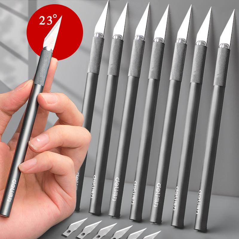 得力刻刀雕刻刀笔刀手工套装学生锋利剪纸专用刻纸diy橡皮章工具