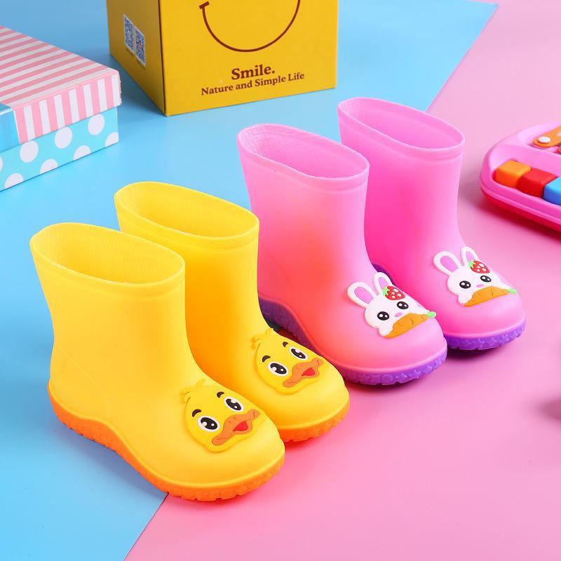 时尚雨鞋儿童保暖加棉防滑水鞋宝宝雨靴男女可爱卡通保暖