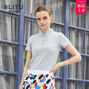 高尔夫衣服女士短袖有领Polo衫时尚夏季运动休闲T恤 高尔夫球服装