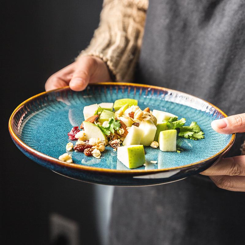 盘子菜盘网红国外餐具家用好看的盘子个性创意漂亮西餐盘ins北欧
