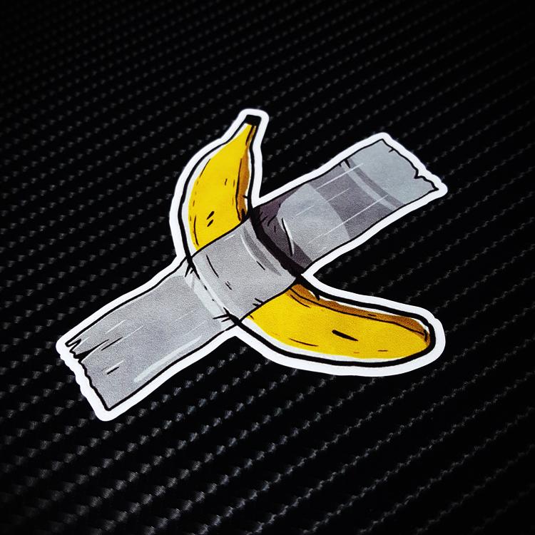 香蕉绷带潮牌行李旅行箱贴纸个性防水汽车贴 笔记本电脑贴纸X0001