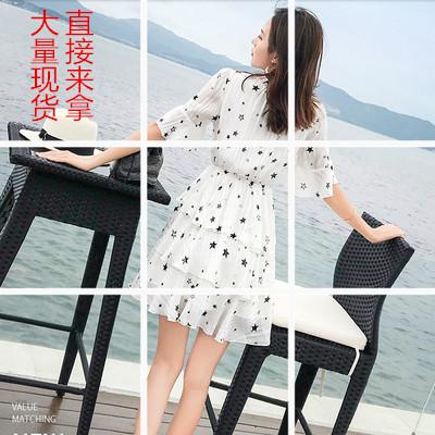 甜美裙子仙女超仙森系蛋糕裙女小清新碎花雪纺连衣裙2019新款夏季