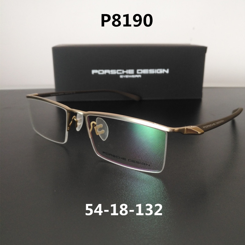 New glasses frame P8190 mens and womens fashionable half frame glasses sports myopia frame ultra light
