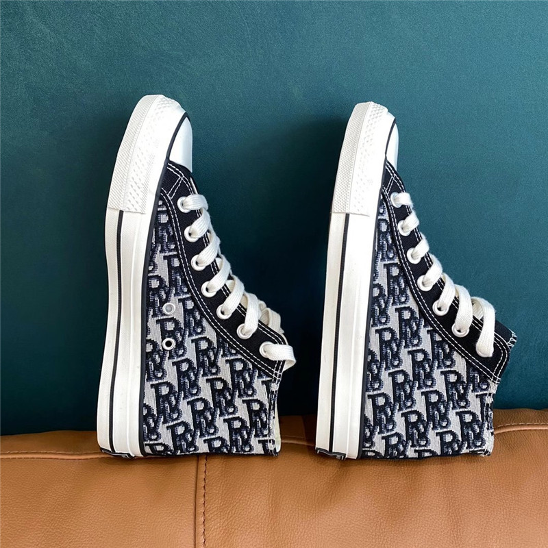 Retro Old Plaid shoes high set high density fashionable canvas pattern high top black and white canvas shoes ins fashion girl