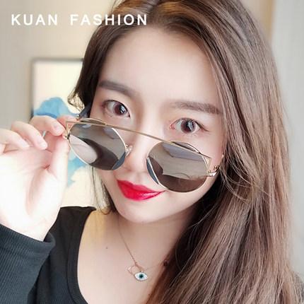 眶潮女2019gm新款韩版太阳圆形墨镜