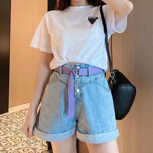 冉小兔mini夏季新款高腰显瘦牛仔短裤女ins宽松a字外穿超短阔腿裤