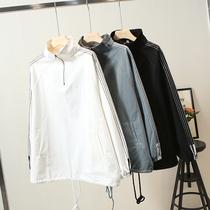 2020春装新款200斤胖妹妹套头宽松版大码女装卫衣夹克外套
