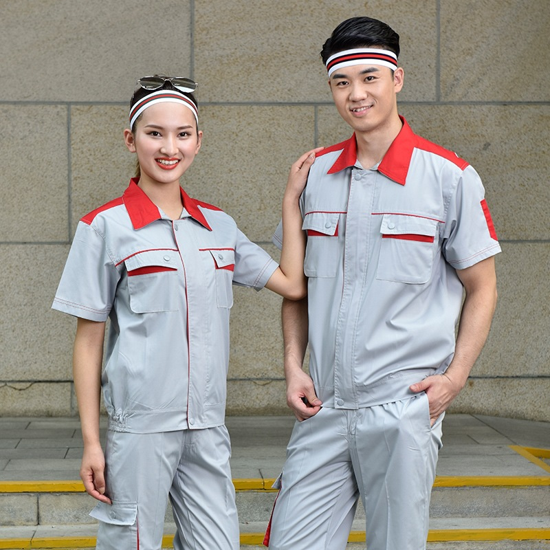 Anti static overalls summer short sleeve factory workshop electrician welder clothing power company installation clothes