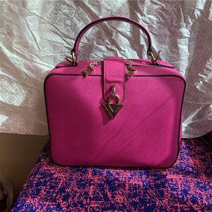 品牌上新小包包新款红色牛皮真皮女包手提斜挎小方包休闲包大容量