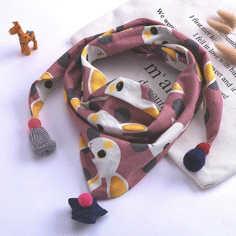 Childrens multifunctional personality simple 2-12 years old new triangle scarf autumn winter Bib boys and girls childrens scarf