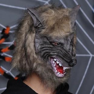 大猩猩恐怖头套面具猴子黑发假面万圣节演出道具吓人整人怪兽成人