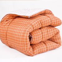 Зимнее одеяло клетчатый полосатый принт Стеганое одеяло утепленный удерживающий тепло есть хлопок Студенческое общежитие один Двойной человек демисезонный есть