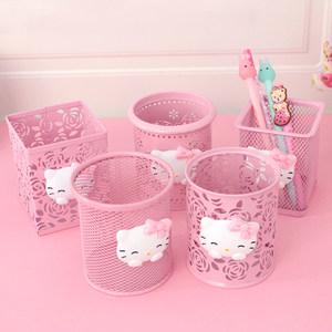 粉色笔筒北欧创意可爱笔桶收纳盒
