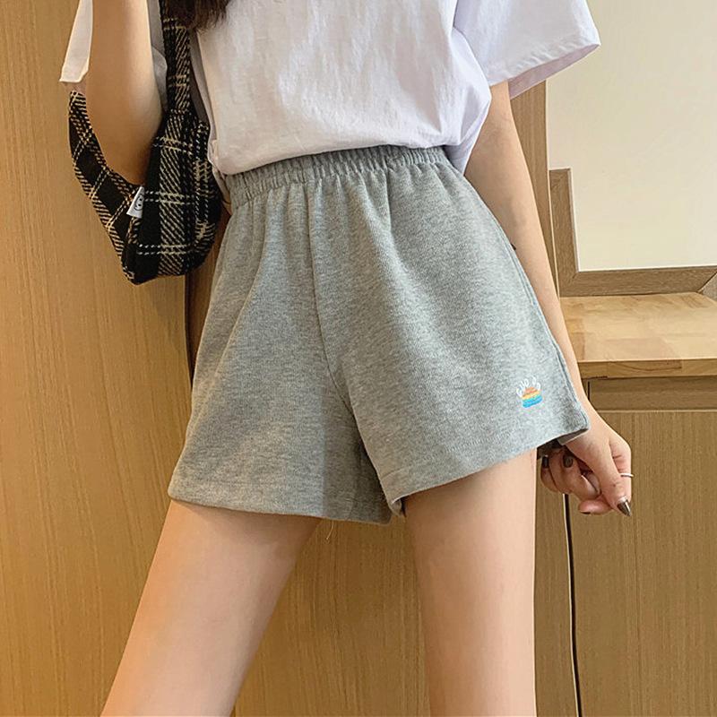 时尚高腰运动裤女夏季薄款a子裤2021韩版新款女式下装休闲短裤女