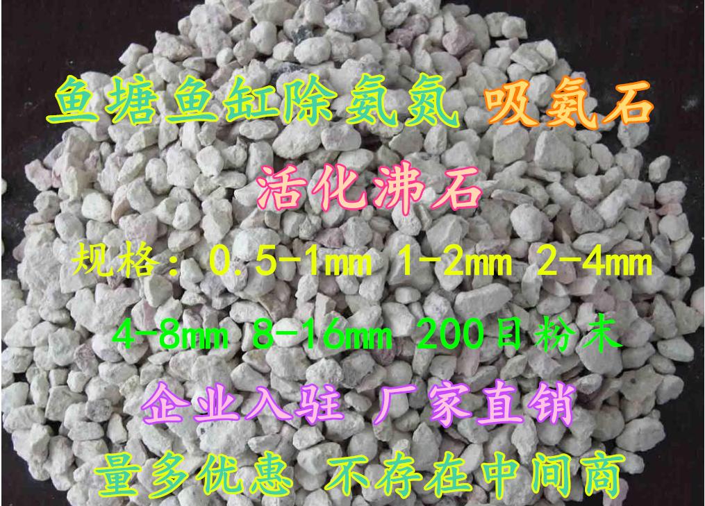 活化沸石 鱼缸除氨氮天然沸石粉沸石滤料吸氨沸石吸氨石过滤材料