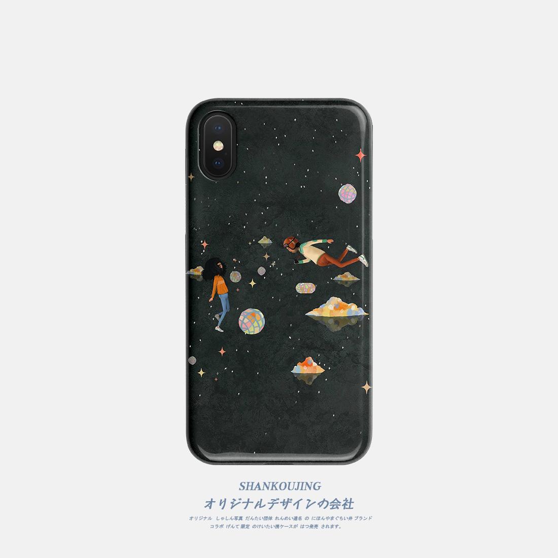 山口井 太空漫步iphone11promax XR xs手机壳苹果7plus磨砂硅胶软