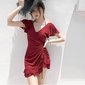 女仙女范遮肚显瘦韩国ins夏游泳衣