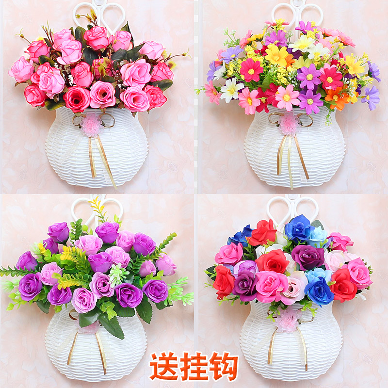 Настенный моделирование корзины ложный костюм стена корзины вешать стена декоративный цветок гостиная качели установить цветок комнатный пластик цветы